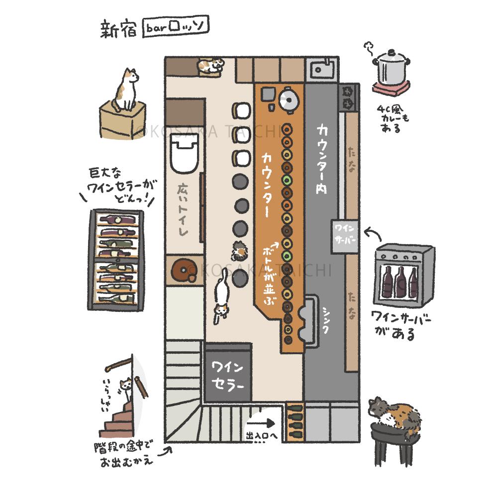 書籍「猫と呑み助」挿絵